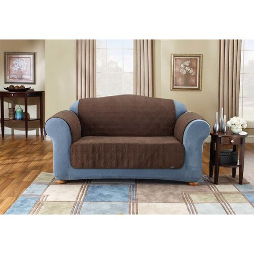Sure Fit Soft Suede Pet Throw Sofa Cover